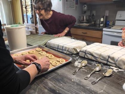 Best gift ever: My Norwegian a grandma teaching me how to make traditional Norwegian cookies to share.